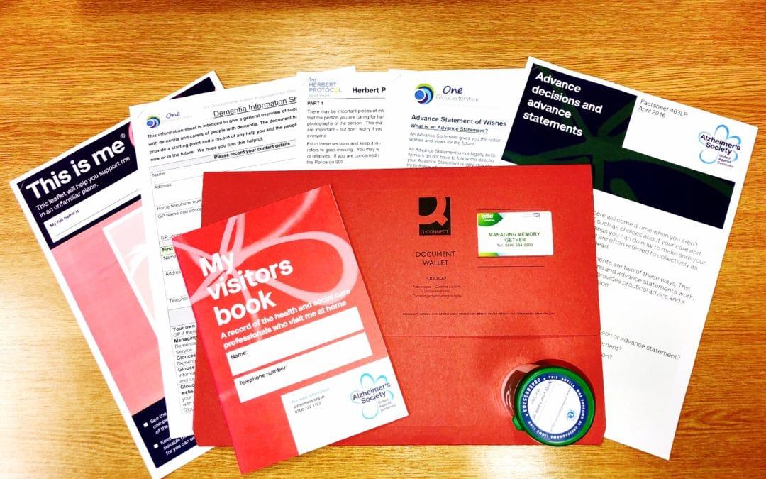 How a red folder can better support people with dementia in Gloucestershire